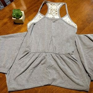 Mossimo Grey Pant Romper Racerback w/ Pockets